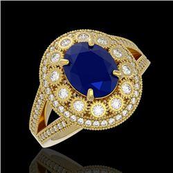 1.75 ctw Peridot & VS/SI Diamond Ring Halo 18K Yellow Gold