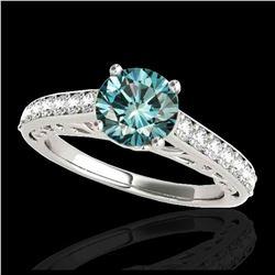 1.90 ctw VS Black Diamond Solitaire Halo Ring 10K White Gold