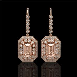 4.55 ctw Ruby & Diamond Ring 14K White Gold