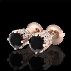 1.50 ctw H-SI/I Diamond Solitaire Halo Ring 10K Rose Gold
