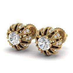 2.04 ctw Intense Blue Diamond Ring 10K White Gold