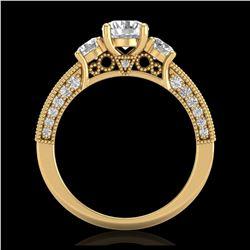 29.73 ctw Jade & Diamond Halo Necklace 10K White Gold
