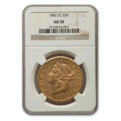 1882-CC $20 Liberty Gold Double Eagle AU-50 NGC