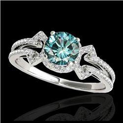 1.55 ctw H-SI/I Diamond Ring 10K White Gold