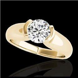 1.93 ctw Princess VS/SI Diamond Necklace 18K Yellow Gold