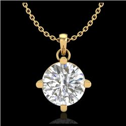 35 ctw Emerald & VS/SI Diamond Eternity Necklace 10K White Gold