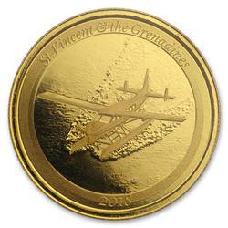 2018 St. Vincent & The Grenadines 1 oz Gold Seaplane BU