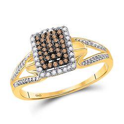 10kt White Gold Round Diamond Fashion Tennis Bracelet 3/4 Cttw