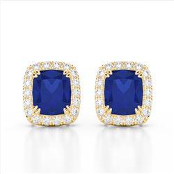 2.52 ctw Sapphire & VS/SI Diamond Ring 18K White Gold