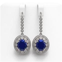 3.04 ctw Yellow Sapphire & Diamond Ring 14K White Gold