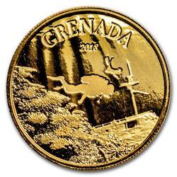 2018 Grenada 1 oz Gold Diving Paradise BU