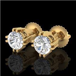 2 ctw Sky Blue Topaz & VS/SI Diamond Necklace 14K Rose Gold