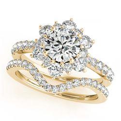 30.8 ctw Sapphire & VS/SI Diamond Eternity Bracelet 10K Yellow Gold