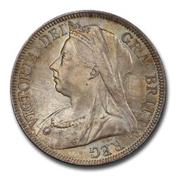 1897 Great Britain Silver Florin Veil Head Victoria MS-65+ PCGS