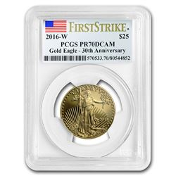 2016-W 1/2 oz Proof Gold American Eagle PR-70 PCGS (FirstStrike®)