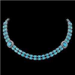 4.3 ctw Morganite & Diamond Earrings 14K Rose Gold