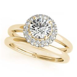1.02 ctw VS/SI Cushion Diamond Stud Earrings 14K White Gold