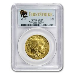 2012 1 oz Gold Buffalo MS-69 PCGS (FirstStrike®)