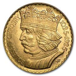 1925 Poland Gold 20 Zlotych Boleslaw BU