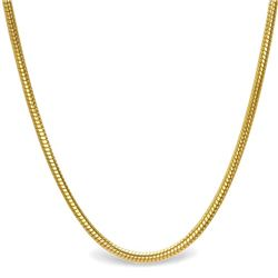 Classic Round Snake 14k Gold Necklace - 30 in.