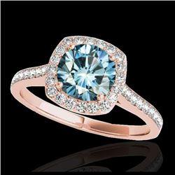 10 ctw Citrine & VS/SI Diamond Necklace 14K Rose Gold