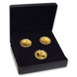 2007-2009 Canada Gold $300 Olympic 3-Coin Proof Set