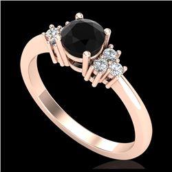 1.17 ctw VS/SI Diamond Solitaire Art Deco Ring 18K White Gold