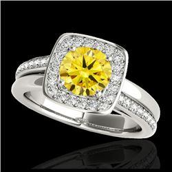2 ctw Ruby & VS/SI Diamond Necklace 18K Yellow Gold