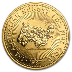 1987 Australia 1 oz Gold Nugget BU