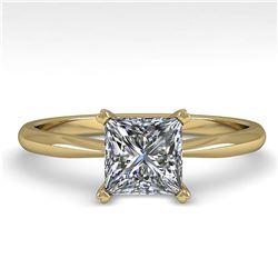 2.2 ctw VS/SI Diamond Art Deco Halo Ring 14K Yellow Gold