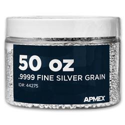 50 oz Silver Grain/Shot .9999+ Fine
