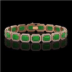 3.50 ctw Emerald & VS/SI Diamond Necklace Designer 10K Yellow Gold