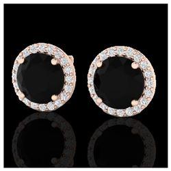 1.50 ctw H-SI/I Diamond Stud Earrings 10K White Gold