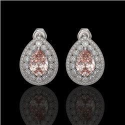 33.54 ctw Garnet & Diamond Necklace 14K White Gold