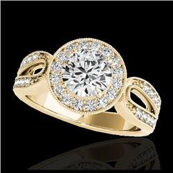 1.65 ctw SI/I Fancy Intense Yellow Diamond Ring 10K Rose Gold