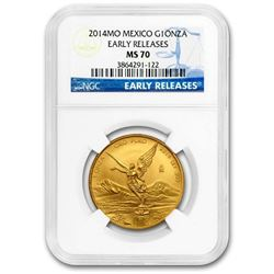 2014 Mexico 1 oz Gold Libertad MS-70 NGC (Early Release)