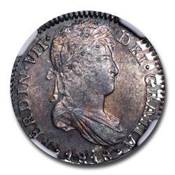 1818-NG M Guatemala Silver 1 Real Fernando VII MS-64 NGC