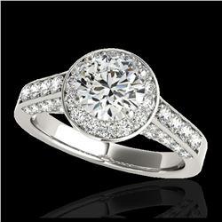 37 ctw Sapphire & VS/SI Diamond Bracelet 14K White Gold