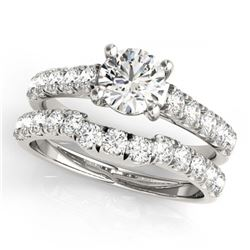 3.55 ctw Aquamarine & Diamond Ring 14K White Gold