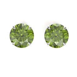 0.76 ctw VS/SI Diamond Earrings 18K Yellow Gold