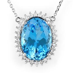 16.05 ctw Ruby & Diamond Bracelet 14K White Gold