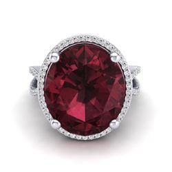 0.70 ctw Halo VS/SI Diamond Ring 14K Rose Gold