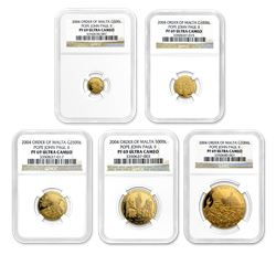 2004 Malta Gold 5-Coin Pope John Paul II Proof Set PF-69 NGC