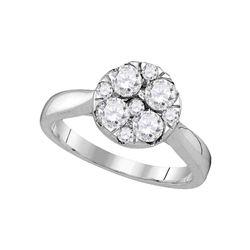 14kt Yellow Gold Princess Diamond Cindys Dream Cluster Bridal Wedding Engagement Ring 7/8 Cttw