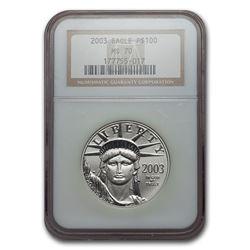 2003 1 oz Platinum American Eagle MS-70 NGC