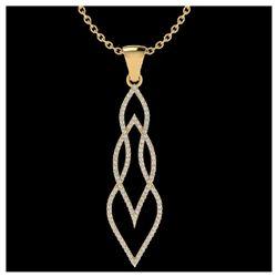 1.25 ctw SI Intense Yellow Diamond Ring 10K Rose Gold