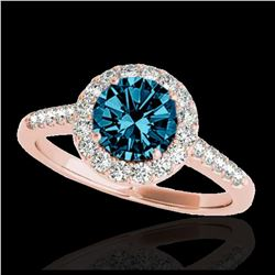 25.51 ctw Turquoise & Diamond Halo Necklace 10K White Gold