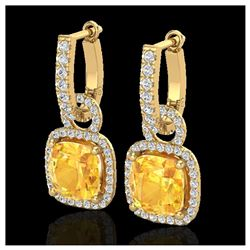 1.41 ctw Intense Fancy Yellow Diamond Art Deco Ring 18K White Gold