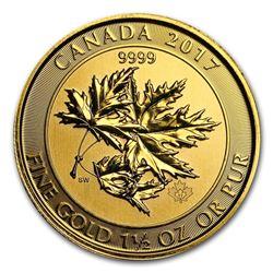 2017 Canada 1.5 oz Gold $150 Megaleaf BU