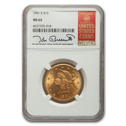 1901-S $10 Liberty Gold Eagle MS-65 NGC
